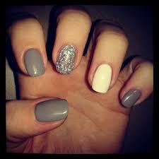 nails grey